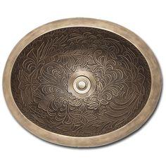 Linkasink Sinks B016 Bronze Bathroom Sink Botanical Oval Bowl 16 5 Wave Plumbing