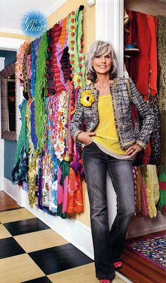 FASHION OVER FIFTY | STREEY STYLE - I would substitute one of my best colours for the yellow, but I love the look.