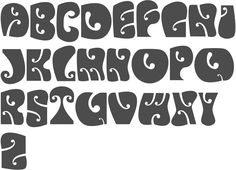 MyFonts: Hippie typefaces Type design information compiled and maintained by Luc Devroye. Typography Drawing, Graffiti Lettering Fonts, Hand Lettering Alphabet, Doodle Lettering, Vintage Lettering, Typography Letters, Lettering Styles, Hippie Font, Poster Fonts