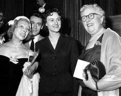 Agatha attends opening of Witness For The Prosecution opening in Nov.1955.