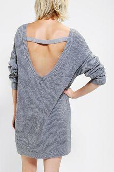 Kimchi Blue Scoop-Back Sweater Dress