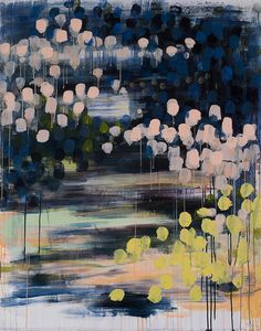 Caroline Writght,  Night Lights, 2010,  acrylic on paper,  40×50″