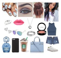 """""""Starbucks With Madison Beer"""" by nataliec13 ❤ liked on Polyvore featuring Bellezza, Current/Elliott, Converse, Pandora, Vivienne Westwood, Kevin Jewelers, Topshop, Worthington, Marc Jacobs and Case-Mate"""