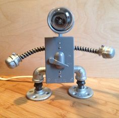 Robot Lamp  lever switch by JosephBarral on Etsy