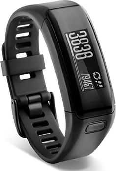 Running GPS Units  Garmin vvosmart HR Activity Tracker Regular Fit  Black -- This is an Amazon Associate's Pin. Locate the item on Amazon website simply by clicking the VISIT button