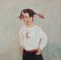 Gennadii Gogoliuk (1960-) - Girl in White
