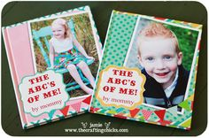 The ABCs of me book...great idea for kids and adults (great grandparent gifts??)