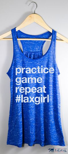 Practice, game, repeat! If you live that #laxgirl lifestyle, you'll love this flowy tank top, perfect for rocking your lacrosse pride all spring and summer long!
