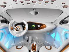 Futuristic Car Interior, Future Vehicle, Futuristic Dashboard, Daimler Smart Forvision