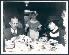 1935 Movie Star C. Henry Gordon Socialite Gloria Morgan Vanderbilt Cafe Photo