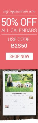Stay Organised this term - 50% Off All Calendars #backtoschool #sale #offers
