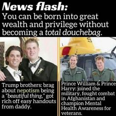 Trump kids vs royalty