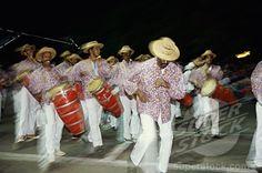 Men Playing Conga Drums And Dancing, Havana, Cuba