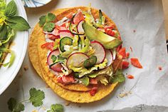 No Cook Meals: Salmon Tostadas with Zucchini-Radish Slaw
