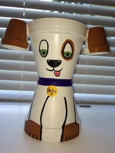 Dog made from clay pots Clay Pot Creations by CraftyTeacher1015