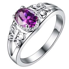 Like and Share if you want this  purple zircon bling Silver plated Ring Fashion Jewerly Ring Women&Men , /VTKVMKTO XBAILUEB     Tag a friend who would love this!     FREE Shipping Worldwide     Buy one here---> http://jewelry-steals.com/products/purple-zircon-bling-silver-plated-ring-fashion-jewerly-ring-womenmen-vtkvmkto-xbailueb/    #cute_earrings