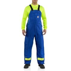 Carhartt 100171 Men's Flame-Resistant Duck Lined Bib Overall Striped #Carhartt #Coverall