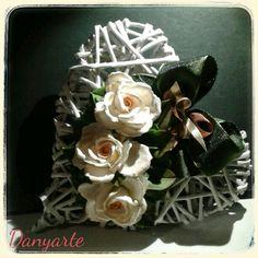 Decorazioni in porcellana fredda per il mio cuore di cannucce di carta!