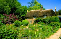 The National Trust's Hardy's Cottage, Dorset, is an evocative cob and thatch cottage, and the birthplace of Thomas Hardy. On Chesil Beach, English Village, English Cottages, Country Cottages, Missing Home, Madding Crowd, England Ireland, British Countryside, British Isles