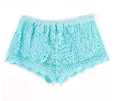 зубцы elasticate талии вышивкой цветочные кружева крючком knicker шорты шорты 9.99
