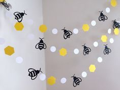 Mommy to Bee Bumble Bee Baby Shower Decorations , Bumble Bee Birthday Decor , Bee Garland/bunting , Bumble Bee Nursery decor,Bee banner Birthday Decorations, Baby Shower Decorations, Birthday Ideas, Bumble Bee Nursery, Baby Bumble Bee, Bumble Bee Birthday, Baby Shower Garland, Mommy To Bee, Bee Party
