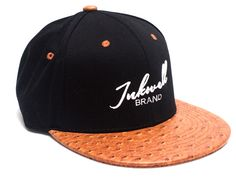 Brown Black Inkwell Strapback Cap by INKWELL