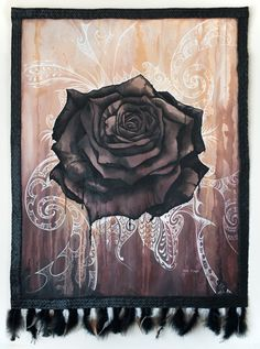 Midnight Rose by Sofia Minson Nz Art, Maori Art, Art Themes, Artwork Prints, Original Paintings, Tapestry, Drawings, Trident, Kiwi