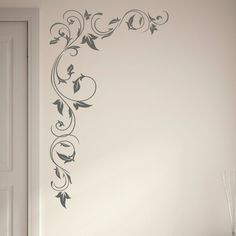 Huge Floral corner flowers big wall art sticker kitchen mural stencil print x21. £19.99, via Etsy.