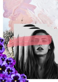 Collage. Violet. Design. Art.