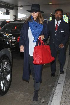 Jessica Alba Ankle Boots - Jessica Alba completed her travel attire with black suede ankle boots.