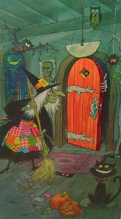 Vintage Halloween witch                                                                                                                                                      More