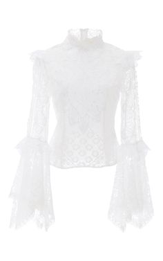 The Luciene Patchwork Lace Top by MARTHA MEDEIROS for Preorder on Moda Operandi