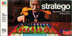 Stratego Board Game   Milton Bradley - Stratego board game lid top - early 1970's   Flickr ...
