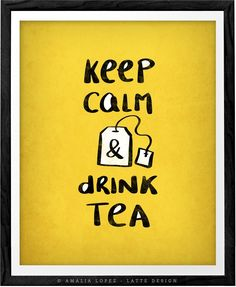 Keep calm and drink tea print keep calm poster British poster British print keep calm print yellow tea print yellow kitchen tea quote print. Keep calm and drink tea print in yellow, blush or turquoise. The print has a light vintage effect you can see in the last picture. Perfect print for your kitchen, office space or as a present to any tea lover. - Heavyweight archival art paper printed using archival pigment inks for a lifetime. - Each piece is a one-off giclee fine art print of museum...