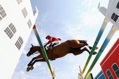 Eric Lamaze of Canada rides Fine Lady 5 during the Team Jumping on Day 11 of the Rio 2016 Olympic Games at the Olympic Equestrian Centre on August 16, 2016 in Rio de Janeiro, Brazil.
