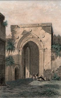 Puerta de Damasco Jerusalem, Painting, Damascus, 14th Century, Graphic Art, Printmaking, Painting Art, Paintings, Drawings