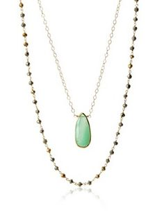 Heather Hawkins 2 Layer Chrysoprase Necklace