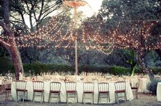 Love the lighting idea. That would be so easy to set up and take out the next day.