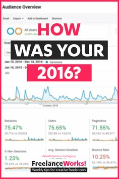 How Did You Do In 2016? Year in Review - Daniel Futerman - Freelance Works