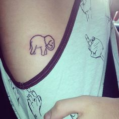 #elephant #tattoo #girly