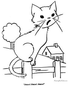 Cute Cat Image To Color