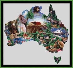 australian maps on counted cross stitch | australia map cross stitch 385 x 358 stitches £ 1 75 more info max 1