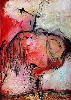 Francine Denault Pensacola acrylique sur papier