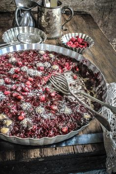 Chocolate, Raspberry And Pomegranate Clafoutis