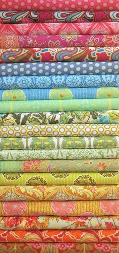 soul blossoms, amy butler prints. the fabric i'm using for my first quilt