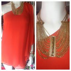 Coral flutter sleeve one shoulder dress