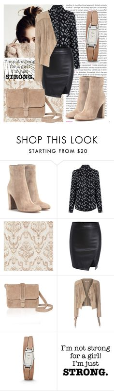 """High Heel Winter Boots"" by lialondon ❤ liked on Polyvore featuring Oris, Gianvito Rossi, Pink Tartan, Brewster Home Fashions, GRACE Atelier De Luxe, Glamorous and FOSSIL"