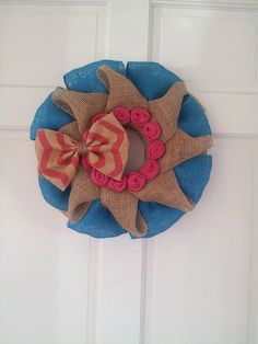 Cute Burlap Wreath by Sundrop Boutique on Etsy