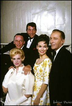 Dean and Frank with Rosemary Clooney and Bing Crosby with his wife Kathryn Grant