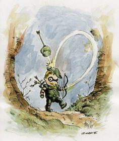 Green Arrow Winnie The Pooh Style